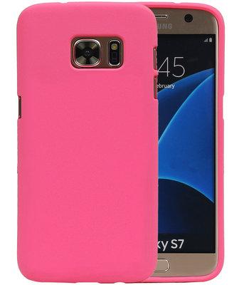 Roze Zand TPU back case cover hoesje voor Samsung Galaxy S7