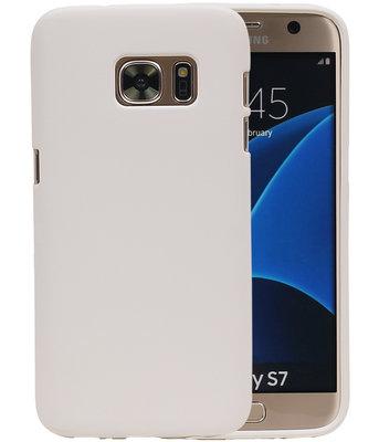Wit Zand TPU back case cover voor Hoesje voor Samsung Galaxy S7