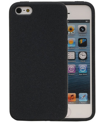 Zwart Zand TPU back case cover voor Hoesje voor Apple iPhone 5 / 5s / SE