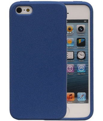 Blauw Zand TPU back case cover hoesje voor Apple iPhone 5 / 5s / SE