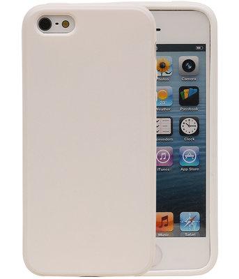 Wit Zand TPU back case cover voor Hoesje voor Apple iPhone 5 / 5s / SE