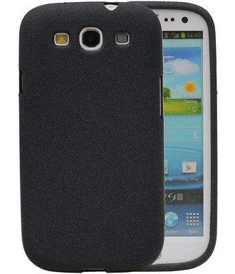 Zwart Zand TPU back case cover voor Hoesje voor Samsung Galaxy S3 I9300