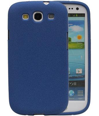 Blauw Zand TPU back case cover voor Hoesje voor Samsung Galaxy S3 I9300
