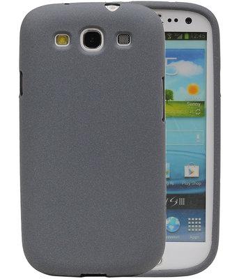 Grijs Zand TPU back case cover voor Hoesje voor Samsung Galaxy S3 I9300