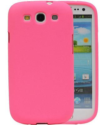 Roze Zand TPU back case cover voor Hoesje voor Samsung Galaxy S3 I9300