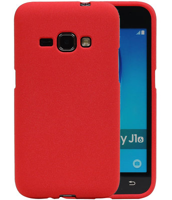 Rood Zand TPU back case cover voor Hoesje voor Samsung Galaxy J1 2016