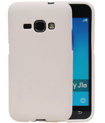 Wit Zand TPU back case cover hoesje voor Samsung Galaxy J1 2016