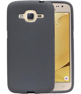 Grijs Zand TPU back case cover voor Hoesje voor Samsung Galaxy J2 2016