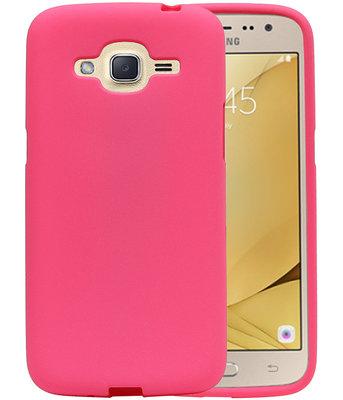 Roze Zand TPU back case cover voor Hoesje voor Samsung Galaxy J2 2016