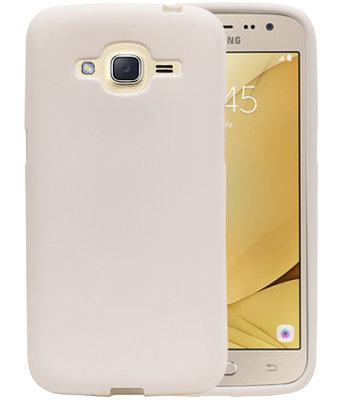 Wit Zand TPU back case cover voor Hoesje voor Samsung Galaxy J2 2016