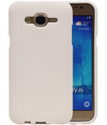 Wit Zand TPU back case cover hoesje voor Samsung Galaxy J5 2015
