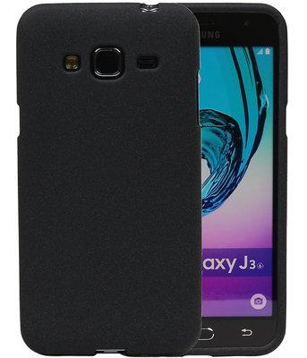 Zwart Zand TPU back case cover voor Hoesje voor Samsung Galaxy J3