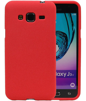 Rood Zand TPU back case cover voor Hoesje voor Samsung Galaxy J3