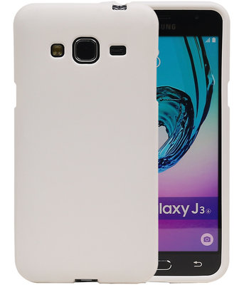Wit Zand TPU back case cover voor Hoesje voor Samsung Galaxy J3