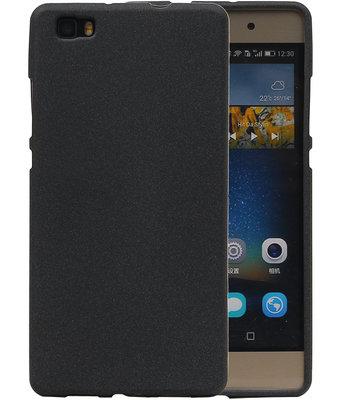 Zwart Zand TPU back case cover hoesje voor Huawei P8 Lite