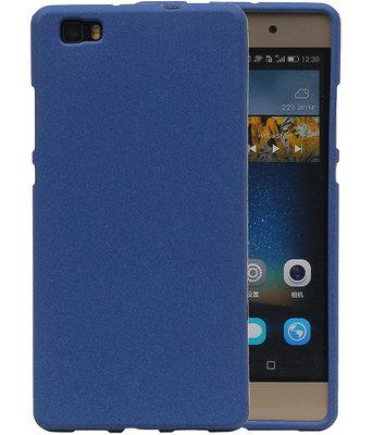 Blauw Zand TPU back case cover hoesje voor Huawei P8 Lite