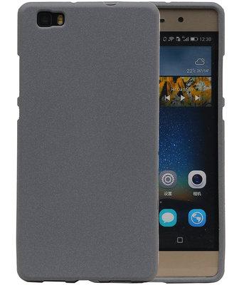 Grijs Zand TPU back case cover hoesje voor Huawei P8 Lite