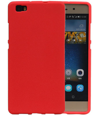 Rood Zand TPU back case cover hoesje voor Huawei P8 Lite