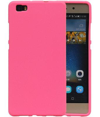 Roze Zand TPU back case cover hoesje voor Huawei P8 Lite