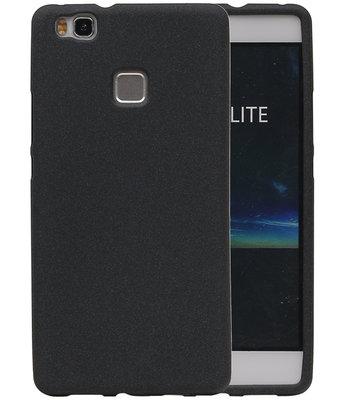 Zwart Zand TPU back case cover voor Hoesje voor Huawei P9 Lite