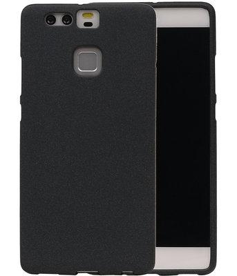 Zwart Zand TPU back case cover voor Hoesje voor Huawei P9