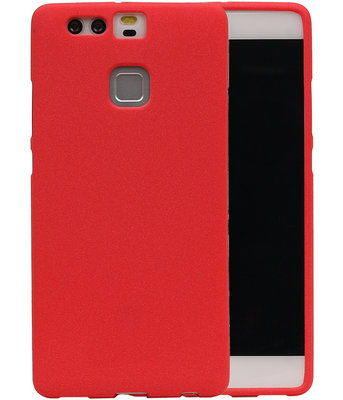 Rood Zand TPU back case cover voor Hoesje voor Huawei P9