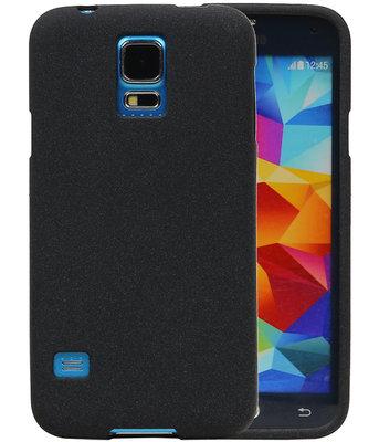Zwart Zand TPU back case cover voor Hoesje voor Samsung Galaxy S5