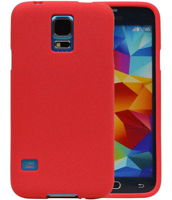 Rood Zand TPU back case cover voor Hoesje voor Samsung Galaxy S5