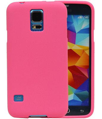 Roze Zand TPU back case cover voor Hoesje voor Samsung Galaxy S5