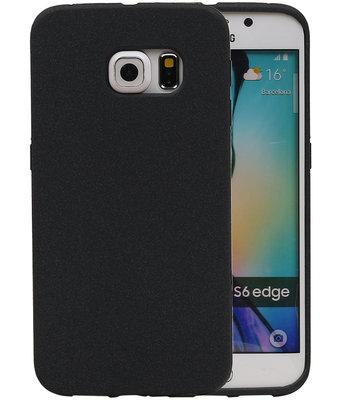 Zwart Zand TPU back case cover voor Hoesje voor Samsung Galaxy S6 Edge