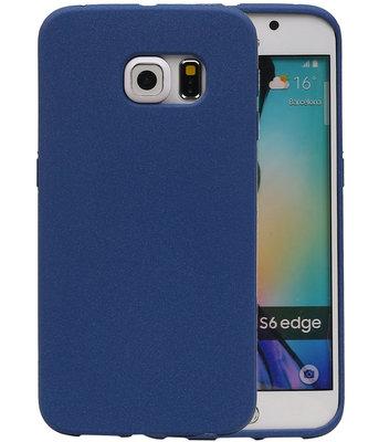 Blauw Zand TPU back case cover voor Hoesje voor Samsung Galaxy S6 Edge