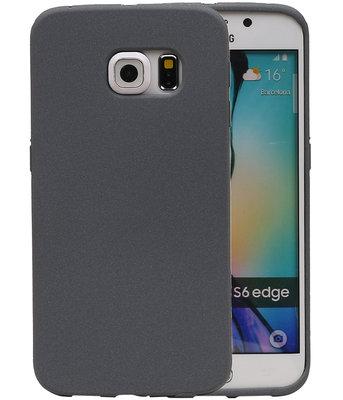 Grijs Zand TPU back case cover voor Hoesje voor Samsung Galaxy S6 Edge