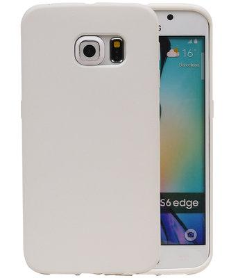Wit Zand TPU back case cover voor Hoesje voor Samsung Galaxy S6 Edge