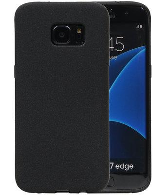 Zwart Zand TPU back case cover voor Hoesje voor Samsung Galaxy S7 Edge