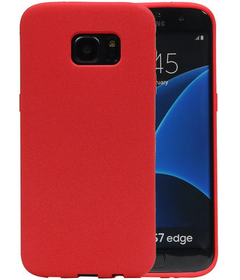 Rood Zand TPU back case cover voor Hoesje voor Samsung Galaxy S7 Edge