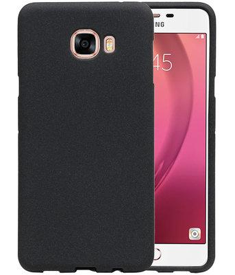 Zwart Zand TPU back case cover voor Hoesje voor Samsung Galaxy C7