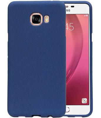 Blauw Zand TPU back case cover voor Hoesje voor Samsung Galaxy C7
