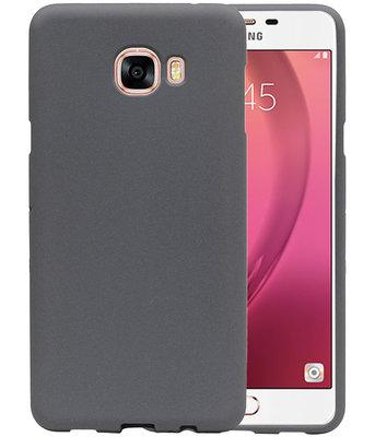 Grijs Zand TPU back case cover voor Hoesje voor Samsung Galaxy C7