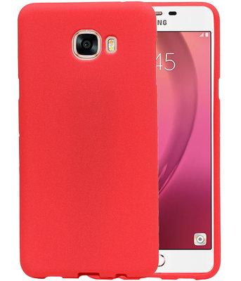 Rood Zand TPU back case cover voor Hoesje voor Samsung Galaxy C7