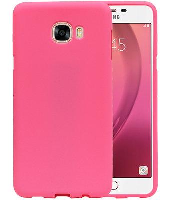 Roze Zand TPU back case cover voor Hoesje voor Samsung Galaxy C7
