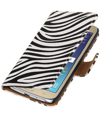 Zebra booktype wallet cover voor Hoesje voor Samsung Galaxy J2 2016