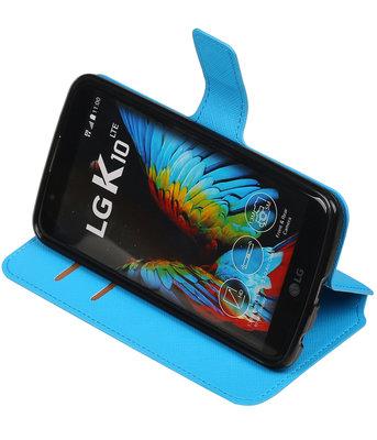 Blauw Hoesje voor LG K10 TPU wallet case booktype HM Book