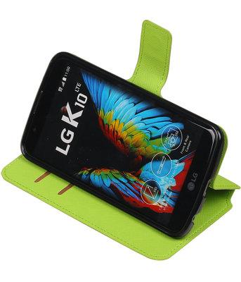 Groen Hoesje voor LG K10 TPU wallet case booktype HM Book
