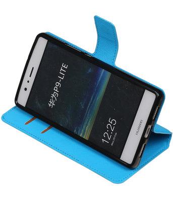 Blauw Hoesje voor Huawei P9 Lite TPU wallet case booktype HM Book