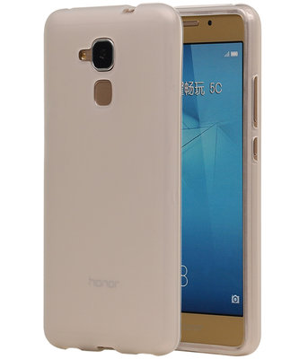 Huawei Honor 5c TPU Hoesje Transparant Wit