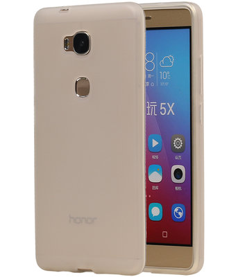Hoesje voor Huawei Honor 5X TPU Transparant Wit
