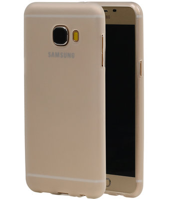 Hoesje voor Samsung Galaxy C5 TPU Transparant Wit