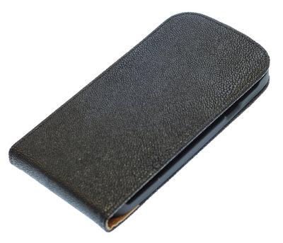 Zwart Ribbel flip case cover voor Hoesje voor HTC One