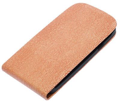 Licht Roze Ribbel flip case cover hoesje voor Samsung Galaxy S Duos S7562