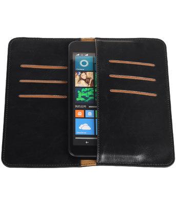 Zwart Pull-up Large Pu portemonnee wallet voor Microsoft
